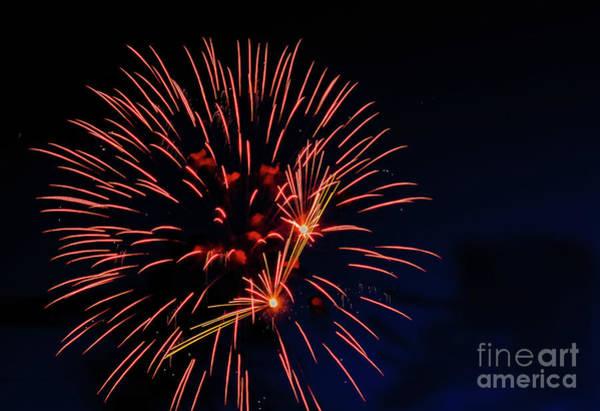 Fireworks Show Wall Art - Photograph - Red Fireball Fireworks by Robert Bales