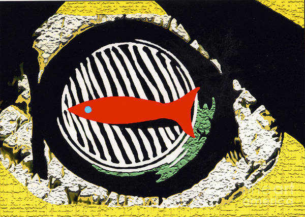 Mixed Media - Red Fish by Bill Thomson