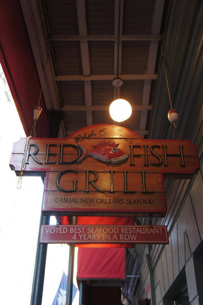 Wall Art - Photograph - Red Fish Grill Sign by Art Spectrum