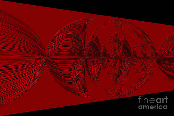 Photograph - Red And Black Design. Art by Oksana Semenchenko