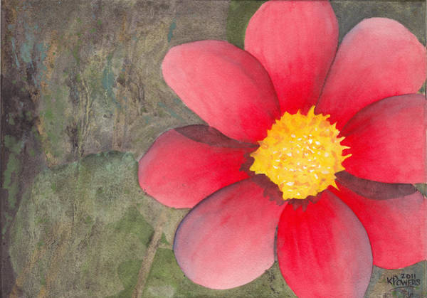 Painting - Red Flower by Ken Powers