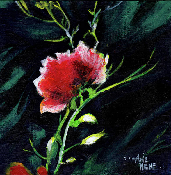 Painting - Red Flower New by Anil Nene