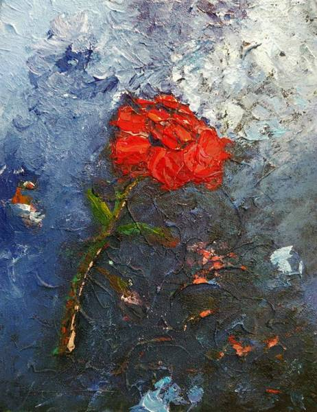 Painting - Red Flower by Ray Khalife