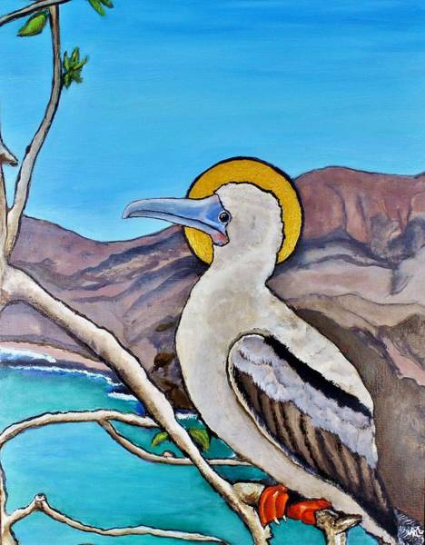 Boobies Painting - Red-footed Booby by Kevin Lester