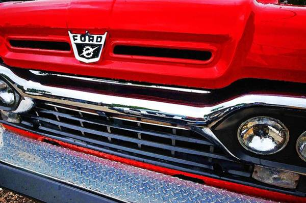 Painting - Red Ford Pickup by Michael Thomas