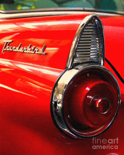 Photograph - Red Ford Thunderbird . Automotive Art Series by Wingsdomain Art and Photography