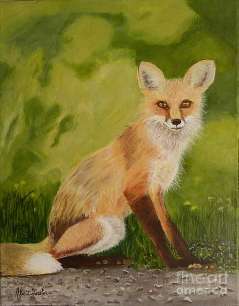 Painting - Red Fox 1 by Alicia Fowler