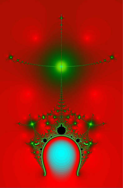 Digital Art - Red Fractal by Charmaine Zoe