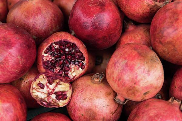 Wall Art - Photograph - Red Fresh Pomegranate Fruits by Michalakis Ppalis