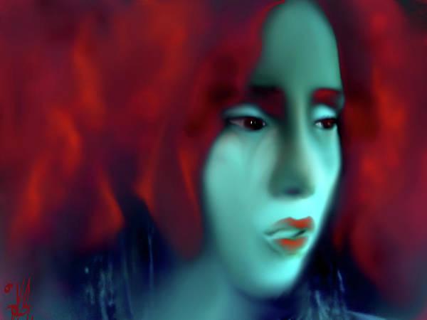 Bodie Digital Art - Red Fury by V Bodie
