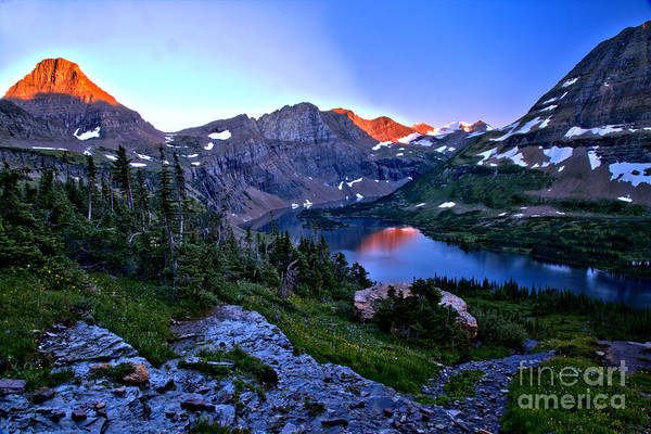 Photograph - Red Glacier Peaks Over Hidden Lake by Adam Jewell