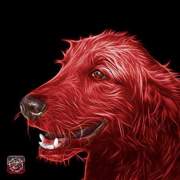 Painting - Red Golden Retriever Dog Art- 5421 - Bb by James Ahn