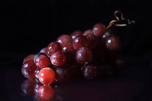 Photograph - Red Grapes by Angela Murdock