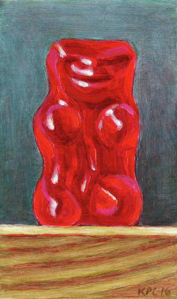 Gummy Bear Painting - Red Gummy by Kenneth Cobb