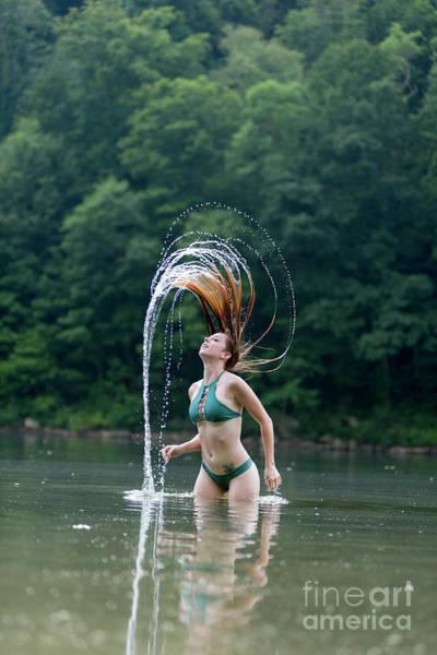 Photograph - Red Hair Flip by Dan Friend