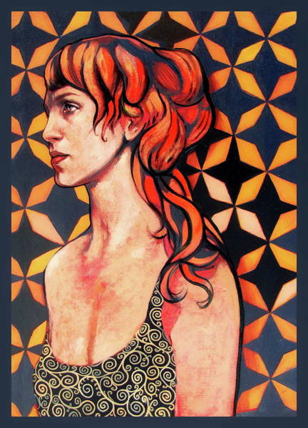 Painting - Red Hair Woman by Jovana Kolic