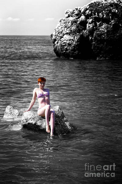 Photograph - Red Head In Cyprus by John Rizzuto