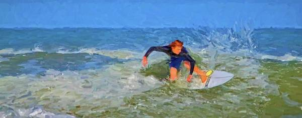 Photograph - Red Headed Surfer by Alice Gipson