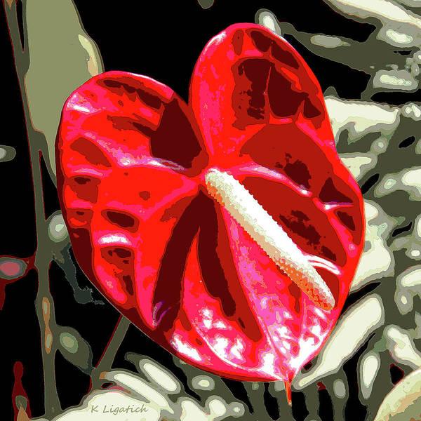 Big Island Digital Art - Red Heart by Kerri Ligatich