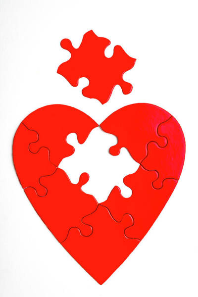Wall Art - Photograph - Red Heart Puzzle by Garry Gay