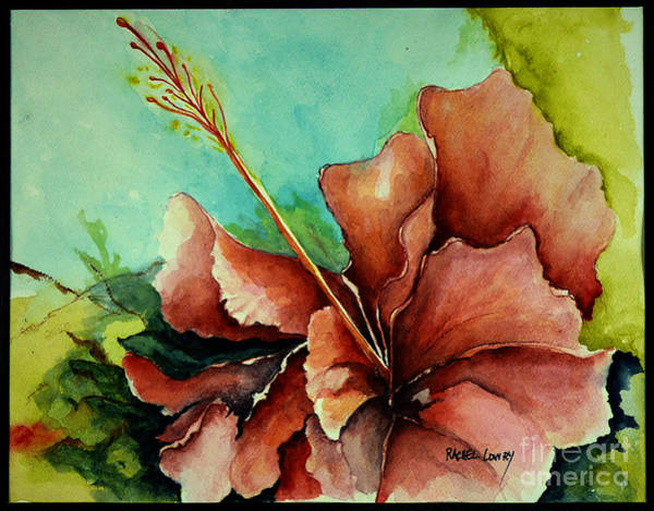 Painting - Red Hibiscus by Rachel Lowry