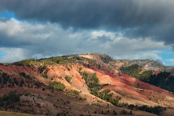 Bishop Hill Photograph - Red Hills Landscape by Kathleen Bishop