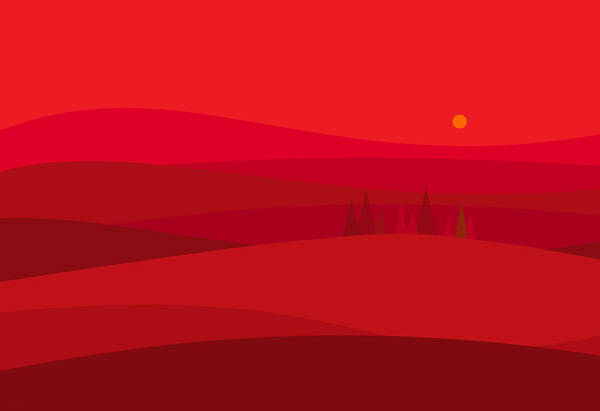 Digital Art - Red Hills by Val Arie