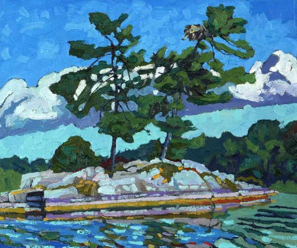 Stratocumulus Painting - Red Horse Osprey by Phil Chadwick