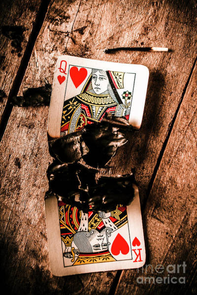 Damaged Photograph - Red Hot Blackjack by Jorgo Photography - Wall Art Gallery