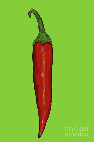 Wall Art - Painting - Red Hot Chili Pepper by Sarah Thompson-Engels