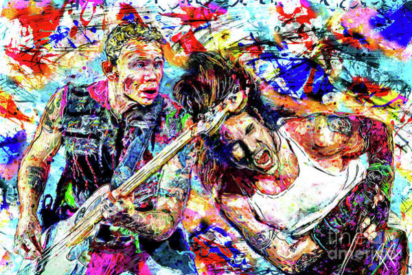 Funk Mixed Media - Red Hot Chili Peppers Art by Ryan Rock Artist
