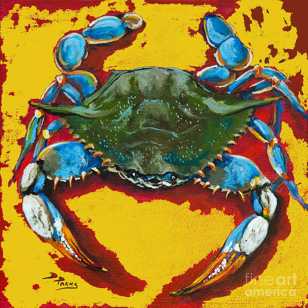 Painting - Red Hot Crab by Dianne Parks