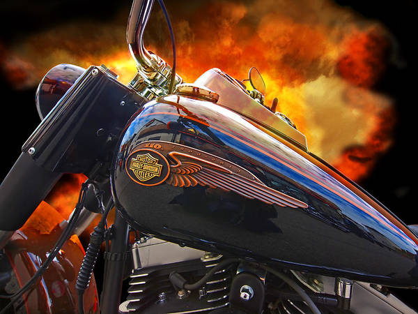 Photograph - Red Hot Harley by Gill Billington