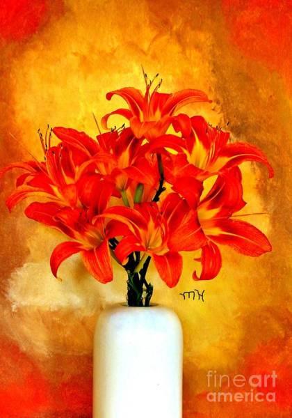 Tigerlily Wall Art - Photograph - Red Hot Lilies by Marsha Heiken