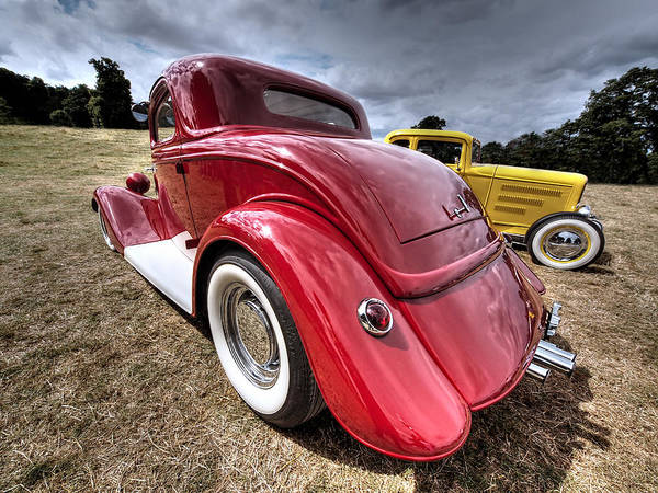 Street Rods Photograph - Red Hot Rod - 1930s Ford Coupe by Gill Billington