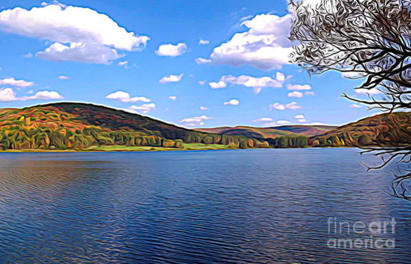 Photograph - Red House Lake Allegany State Park Expressionistic Effect by Rose Santuci-Sofranko