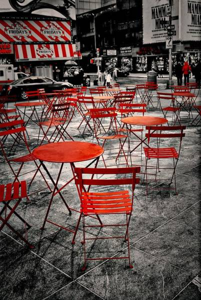 Time Frame Photograph - Red In My World - New York City by Angie Tirado