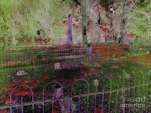 Photograph - Red In The Cemetery by D Hackett