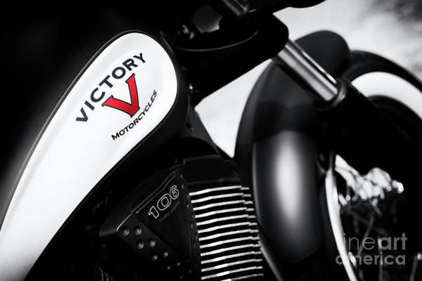 Victory Motorcycle Photograph - Red Is For Victory by Tim Gainey