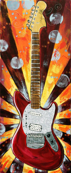 Painting - Red Jag-stang by John Gibbs