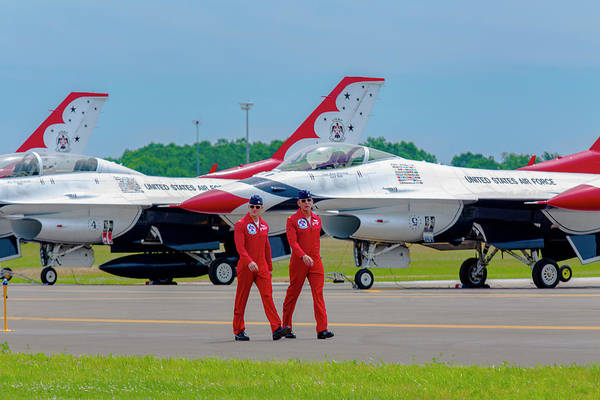 Photograph - Red Jumpsuit Thunderbird Pilots by Jack R Perry
