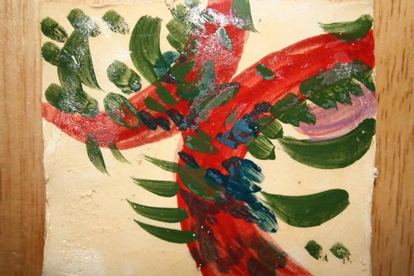 Ceramic Art - Red Kiss - Tile by Gloria Ssali
