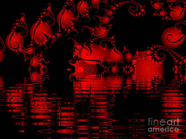 Red Lake Cave Fractal Art Print