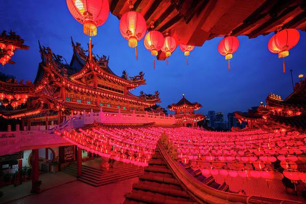Chinese New Year Photograph - Red Lanterns Decoration by Anek Suwannaphoom