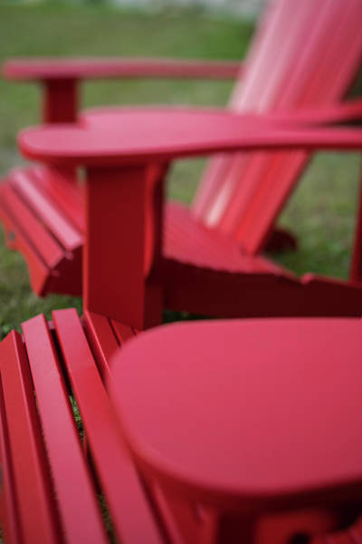 Wall Art - Photograph - Red Lawn Chair Number 2 by Steve Gadomski