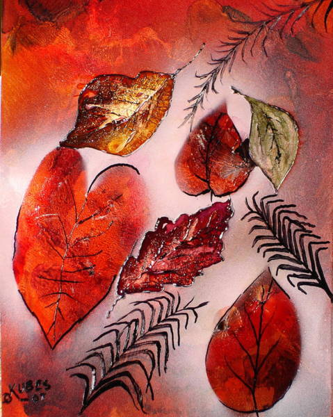 Wall Art - Painting - Red Leaves by Susan Kubes