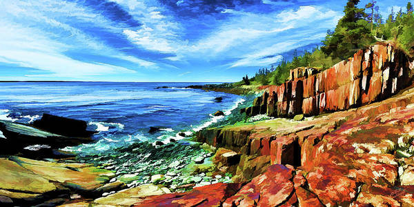 Red Bluff Photograph - Red Ledge At Quoddy Head by ABeautifulSky Photography by Bill Caldwell