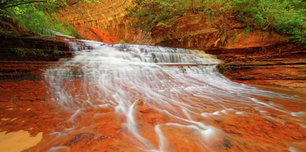 Photograph - Red Ledges Cascade by Jonathan Davison