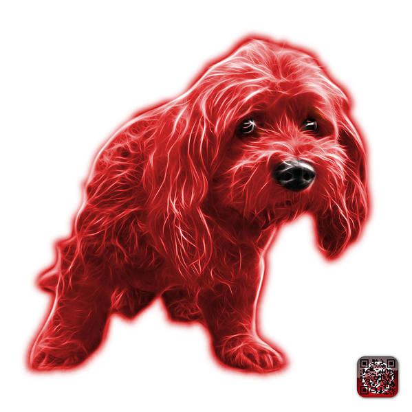 Painting - Red Lhasa Apso Pop Art - 5331 - Wb by James Ahn