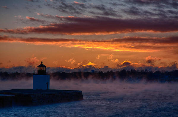 Photograph - Red Light Of Derby Lighthouse by Jeff Folger
